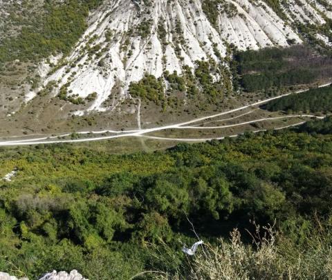 Долина Ашлама-дере, вид с Чуфут-Кале