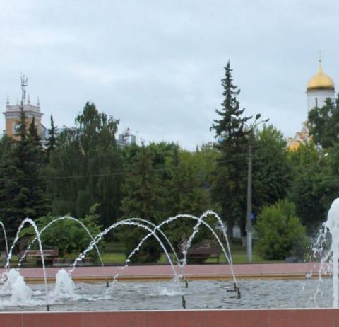 Фонтан на площади Пушкина в Иваново