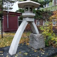 Японский фонарь на улице Канадзавы