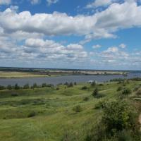Вид на Оку из села Константиново