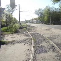 На окраине Воронежа (не пугайтесь, дорога не действующая)