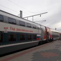 """Двухэтажный поезд """"Воронеж-Москва"""""""
