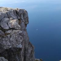 Парус одинокий и мужское лицо в скале (Кокия-Кая)