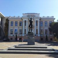 Библиотека Пушкина, памятник Пушкину, для комплекта рядом ещё и улица Пушкина